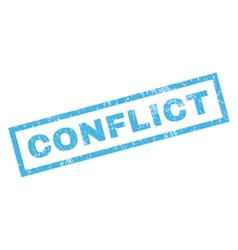 Conflict rubber stamp vector
