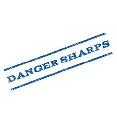 Danger sharps watermark stamp vector