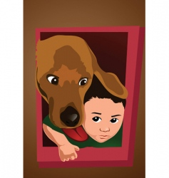dog door vector image vector image