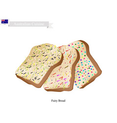 Fairy bread famous dessert of australia vector