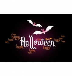 Halloween typographic banner vector