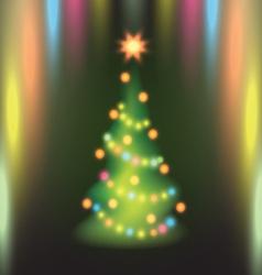 Home christmas fir tree vector