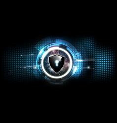 Lock shield with security lock concept futuristic vector