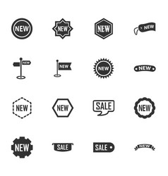 new stiker and label set icons vector image vector image