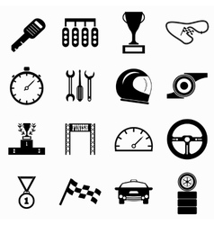 Race icons set simple style vector
