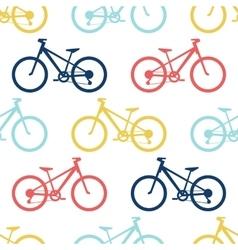 Retro bike seamless pattern vector image vector image