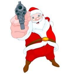 Robber santa claus vector