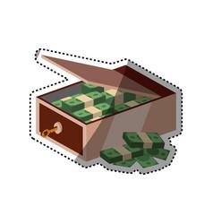 Safe deposit strongbox key vector