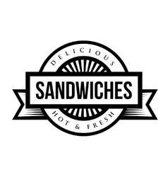 Sandwiches vintage stamp vector image vector image