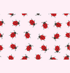 seamless pattern ladybug vector image vector image