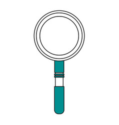 Sketch color silhouette magnifying glass with lens vector