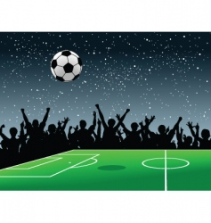 soccer pitch vector image vector image