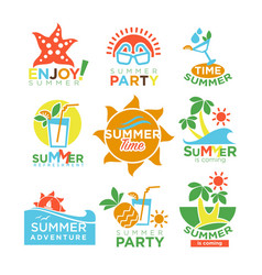 Summer holidays and travel adventure or party vector