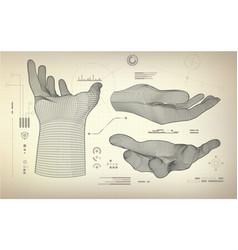 threereachinghand vector image