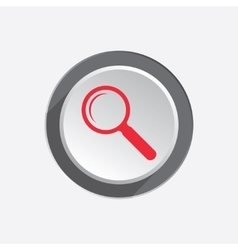 Zoom tool icon Magnifier glass sign Search and vector image