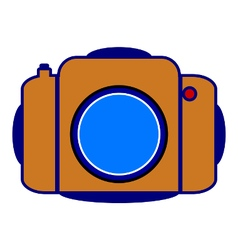 Camera icon on white vector