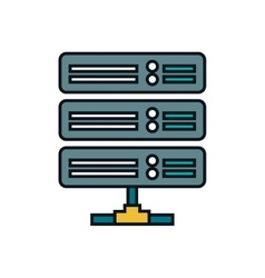 Disk data center isolated icon vector