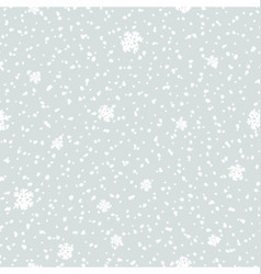 Seamless snowfall pattern vector