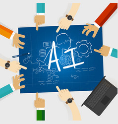 Ai artificial intelligence computer science vector