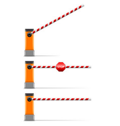 Street barrier isolated on white vector