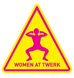 Women at twerk sign vector