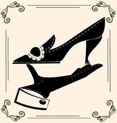 vintage shoe vector image