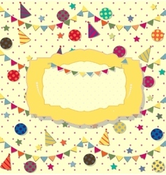 Birthday celebration poster ideal for club card vector