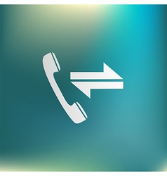Incoming and outgoing call symbol of the incoming vector