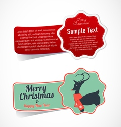 Christmas Design Elements and Stickers vector image
