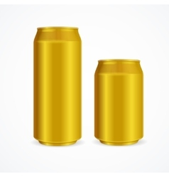 Yellow Aluminium Cans vector image