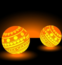Orange light balls background eps 10 vector