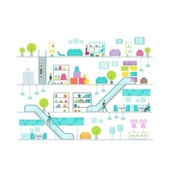Shopping mall vector image