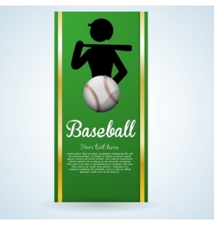 Baseball design sport icon flat vector