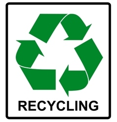 Recycle green symbol eco flat vector