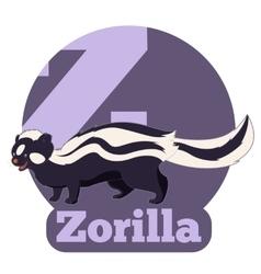 ABC Cartoon Zorilla vector image