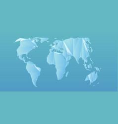Abstract polygonal mesh world map vector