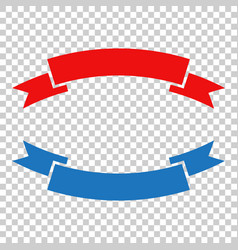 Badge icon ribbon in flat style on isolated vector
