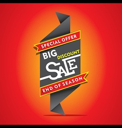 Big discount sale end of season sale banner desig vector
