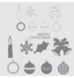 Christmas and New Year icon vector image vector image