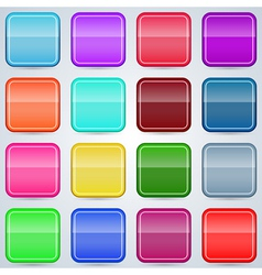 Colorful buttons templates vector image vector image
