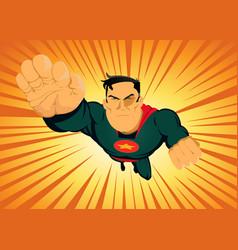 Comic superhero - fast and furious vector
