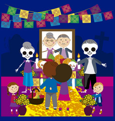 day of the dead 17 vector image vector image