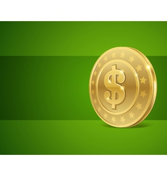 Dollars money coin vector image vector image