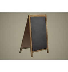 Empty Menu Black Board Isolated vector image vector image