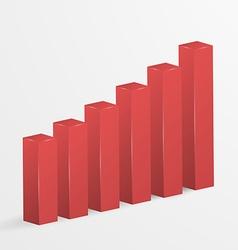 Financial bar graph icon vector