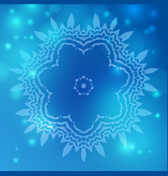 Flower mandala background vector