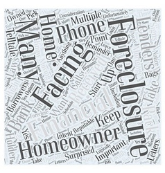 Foreclosures and moving what to do word cloud vector