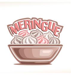 French dessert meringue vector
