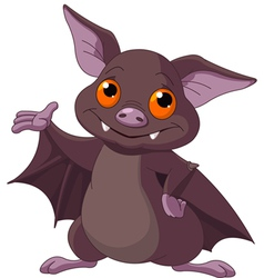 Halloween bat presenting vector