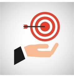 Hand business growth tag strategy market vector